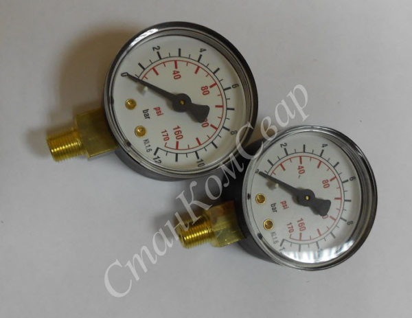 Манометр Camozzi (12 атм) к компрессорам